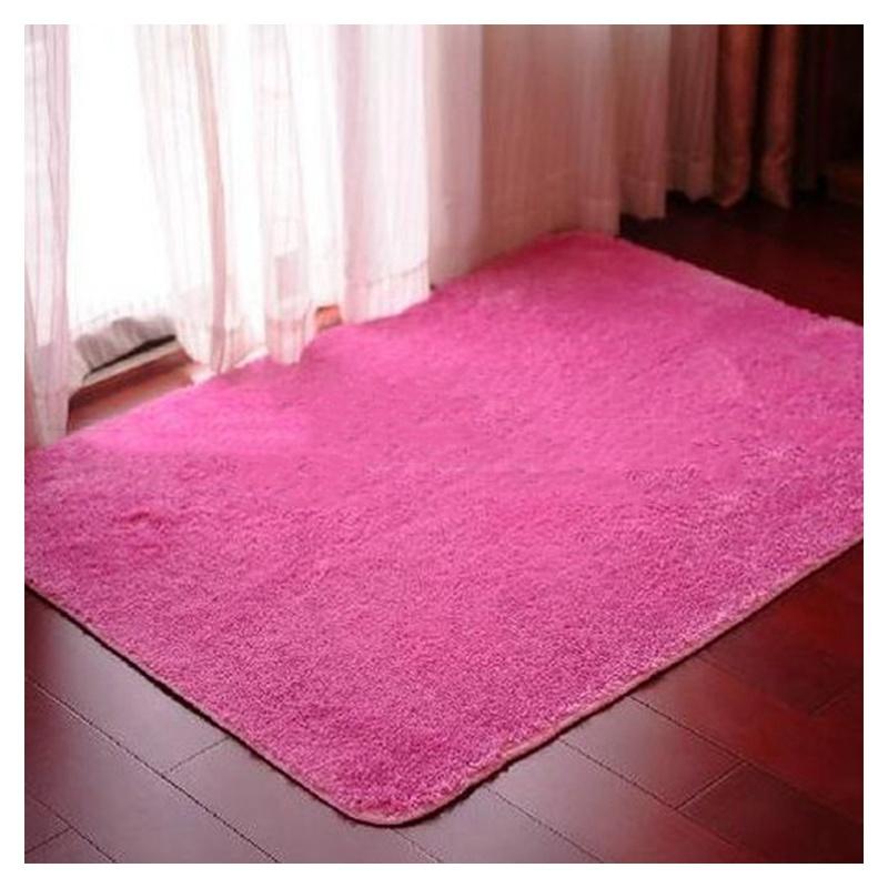 Tapis-pour-la-Maison-le-Salon-la-Chambre-Tapis-de-Peluches-rouge-rose-40-x-T1W8 miniature 3