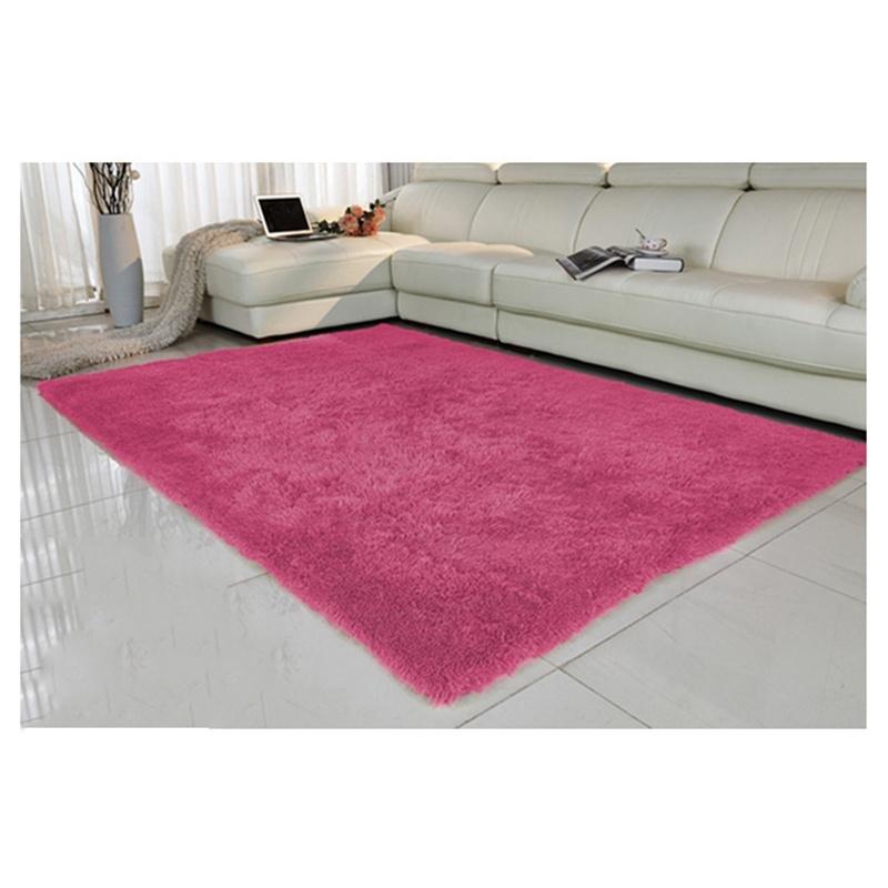 Tapis-pour-la-Maison-le-Salon-la-Chambre-Tapis-de-Peluches-rouge-rose-40-x-T1W8 miniature 4