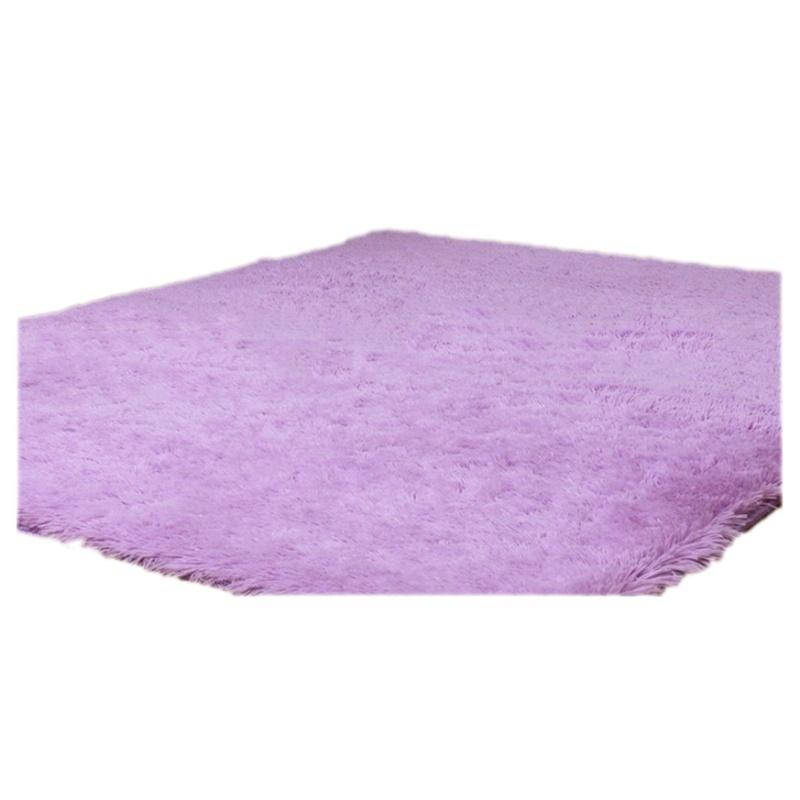 Tapis pour la Maison le Salon la Chambre Tapis de Peluches violet ...