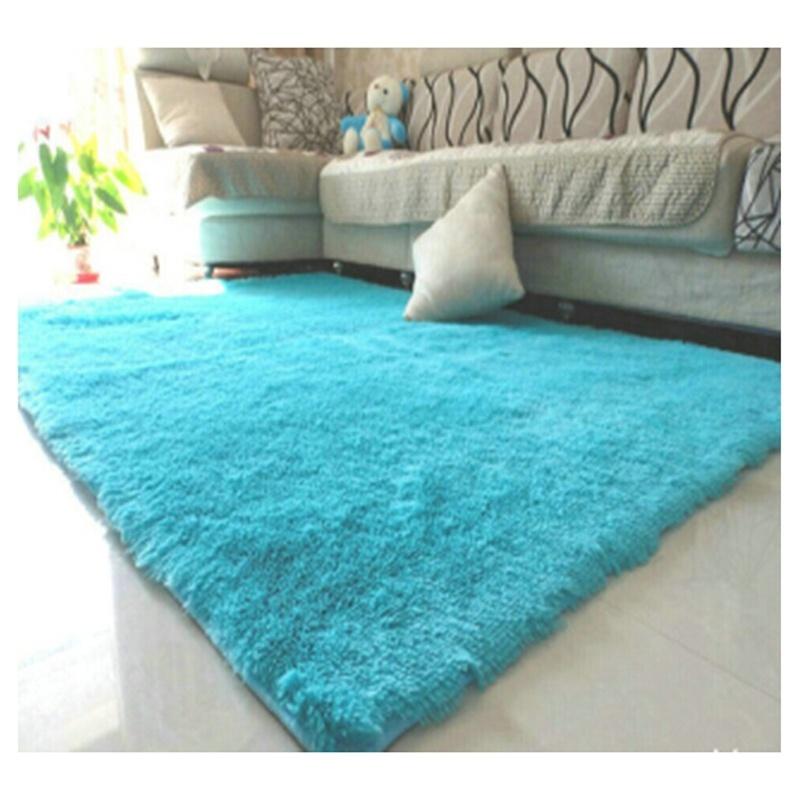 Alfombras de felpa de casa y dormitorio azul claro 50*80cm B6D8