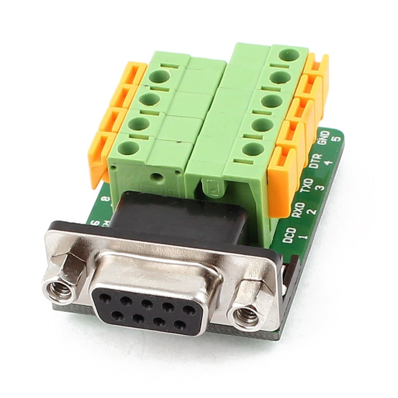 DB9 RS232 Serial Female Adapter Plate to 9 Position Terminal Connector Y3F6