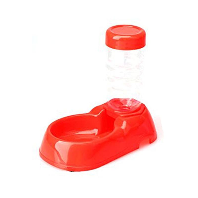 Pet Dog Puppy Cat Kitten Automatic Water Dispenser Food Dish Bowl Feeder Bo A0U4