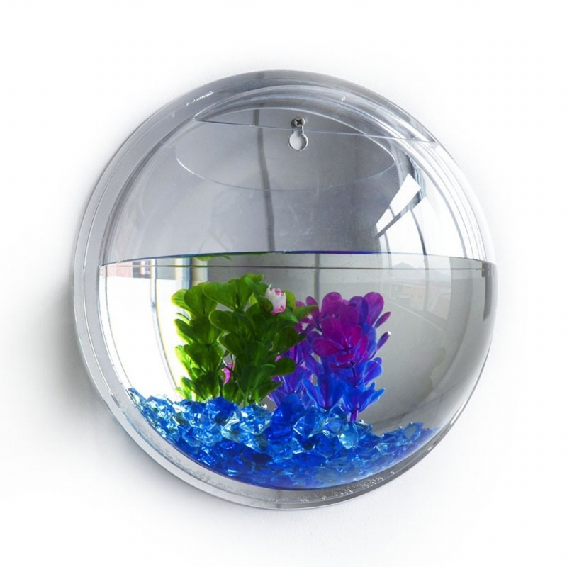 Reservoir-de-poisson-murale-bubble-aquarium-bol-poisson-cuve-decoration-d-039-a-L7U4 miniature 2