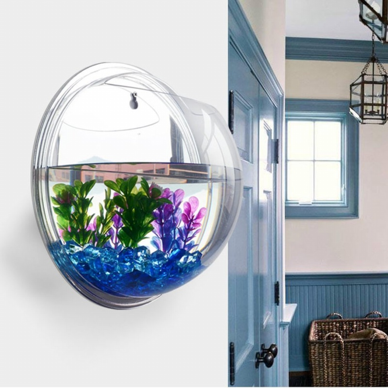 Reservoir-de-poisson-murale-bubble-aquarium-bol-poisson-cuve-decoration-d-039-a-L7U4 miniature 3