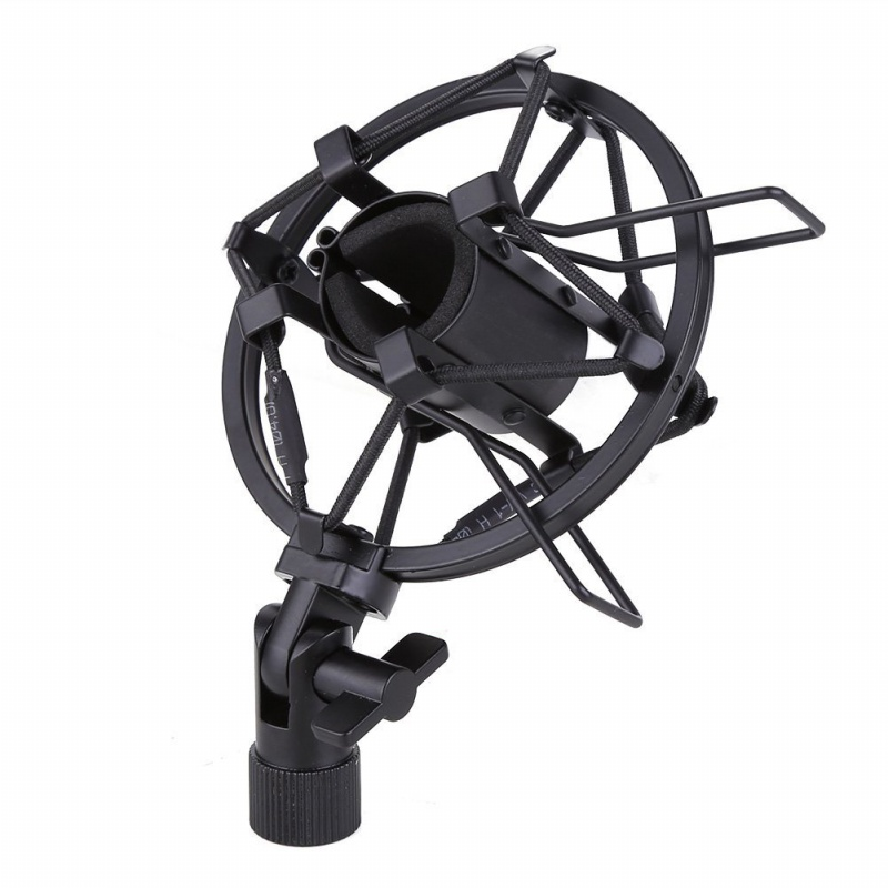 miniphone-Shock-Mount-25MM-For-23MM-27MM-Diameter-Condenser-Mic-Black-W4L8 thumbnail 2