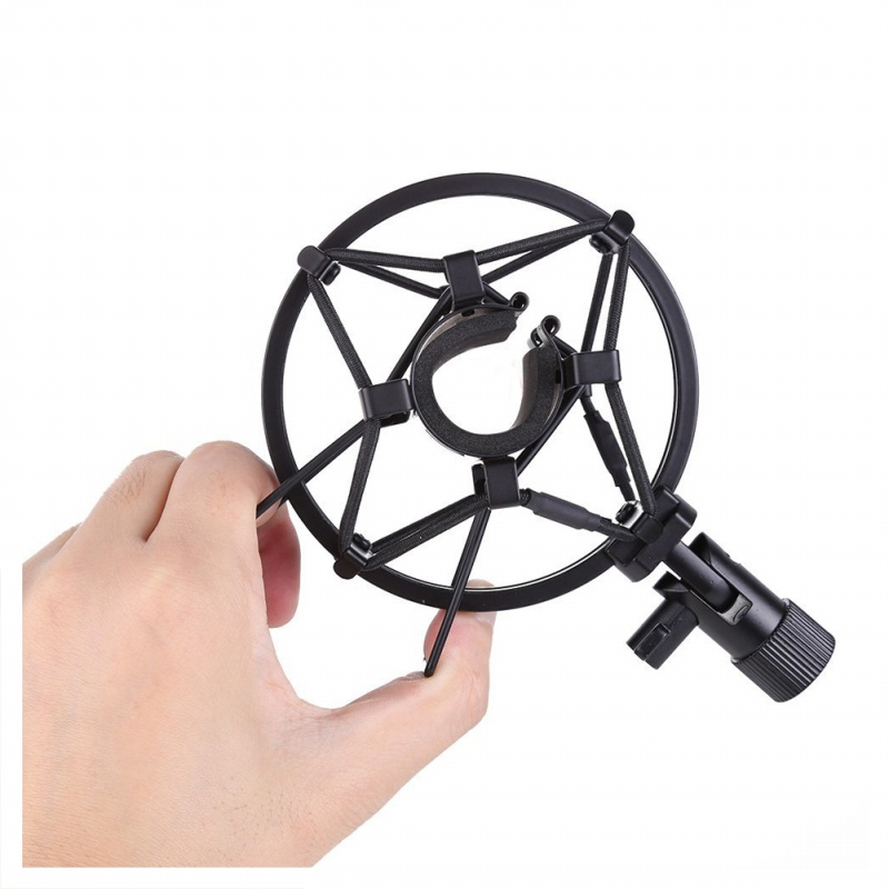 miniphone-Shock-Mount-25MM-For-23MM-27MM-Diameter-Condenser-Mic-Black-W4L8 thumbnail 4