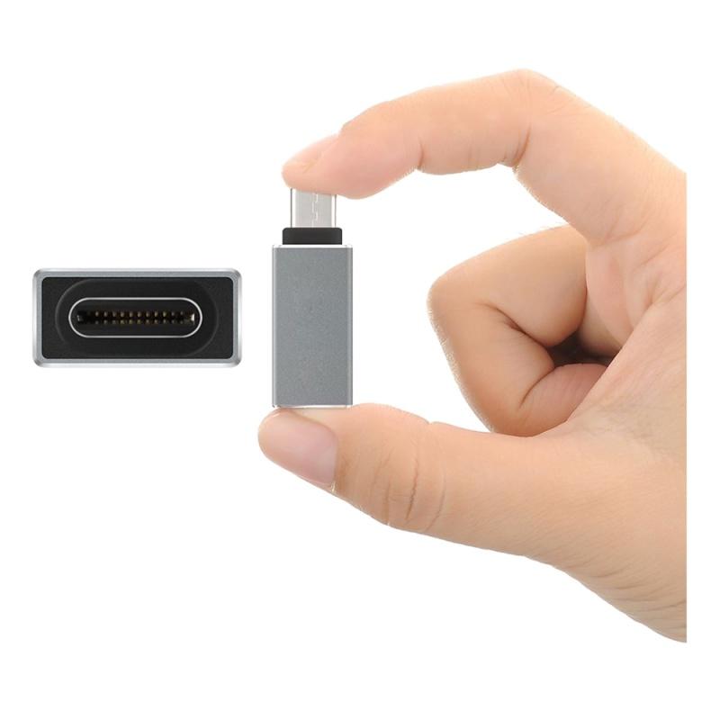 USB-C-Type-C-Type-C-USB-3-1-A-USB-3-0-Type-A-Male-to-Female-Converter-Adapt-F4E3 miniatura 3