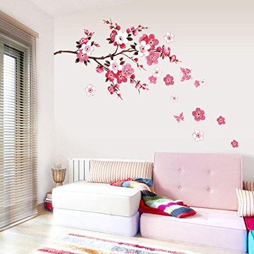 Etiqueta-impermeable-de-pared-de-patron-de-flor-de-ciruelo-de-mariposa-para-dorm