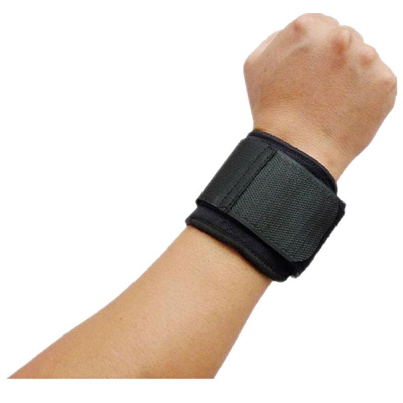 Adult-Black-Neoprene-Wrap-Compression-Wrist-Brace-Support-L3D3 miniatura 2