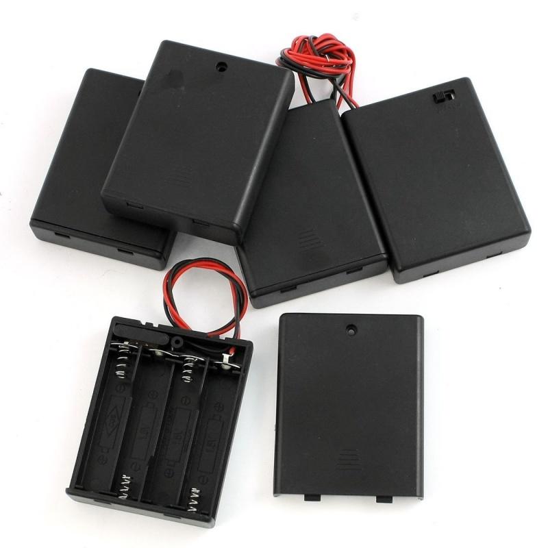 5 Stk. 4 x AAA Batterie Halter Speicher mit Ein/ Aus-Schalter D3J9 ...