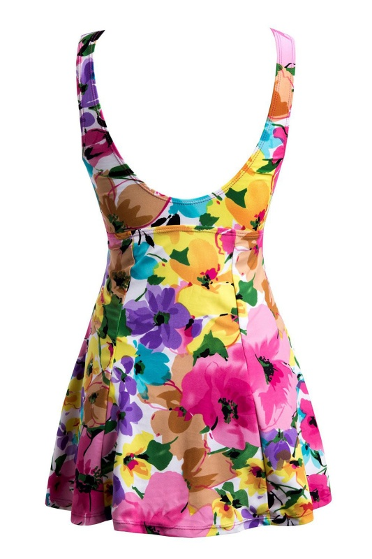 damen bademode badeanzug push up badeanzug badekleid rose. Black Bedroom Furniture Sets. Home Design Ideas