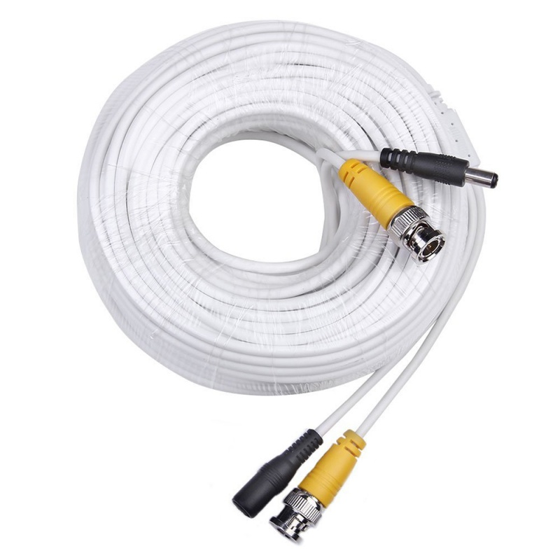 100ft Video Power Cables Bnc Rca Security Camera Extension