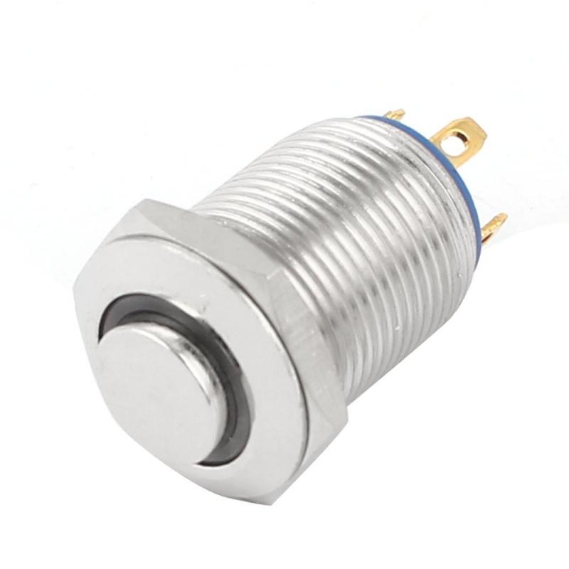 Gruene LED Lampe SPST 12mm Plattenmontage Momentan Metall ...