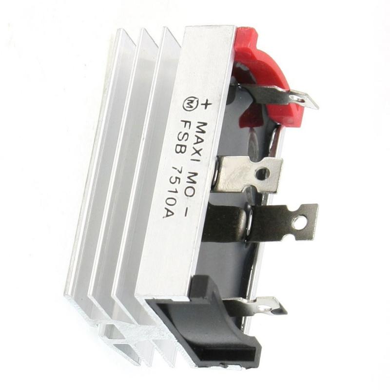 luminium Kuehlkoerper Basis Einphasen Brueckengleichrichter Diode 75A 1000V D7C9
