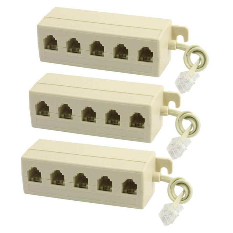 3pzs-RJ11-6P4C-M-a-6P2C-F-5-vias-Adaptador-Extender-Splitter-de-telefono-I9B7