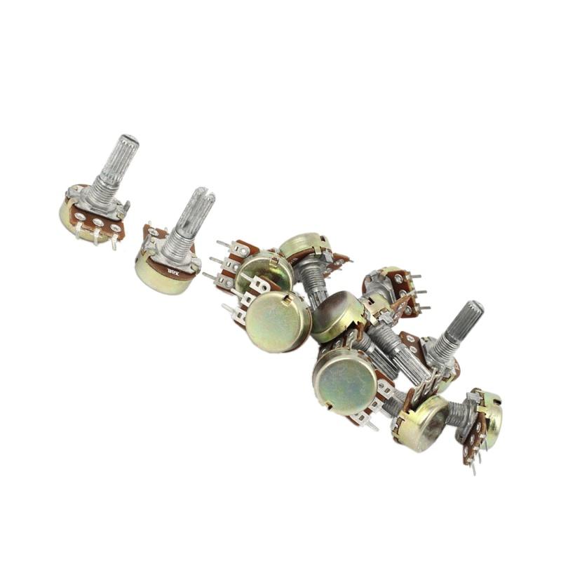 5X-1K-2K-5K-10K-OHM-Potentiometre-rotatif-a-cone-lineaire-Pot-3-ensembles-N2N9