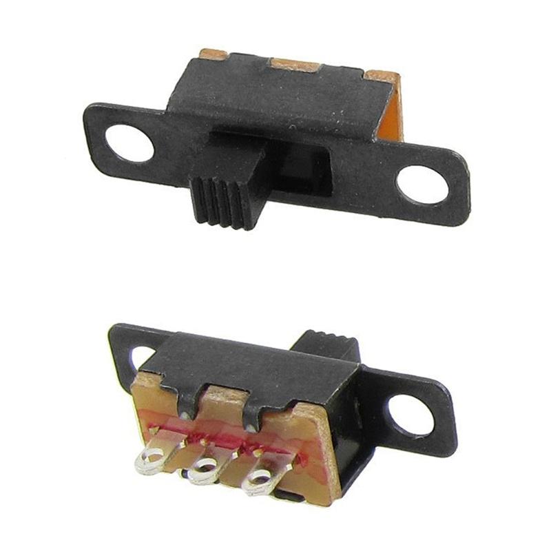 50-Pcs-ON-ON-2-Position-1P2T-SPDT-Mini-Panel-Slide-Switch-Solder-Lug-SS12F1-P6Z4 thumbnail 2