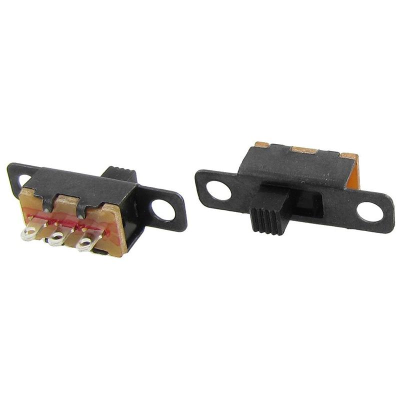 50-Pcs-ON-ON-2-Position-1P2T-SPDT-Mini-Panel-Slide-Switch-Solder-Lug-SS12F1-P6Z4