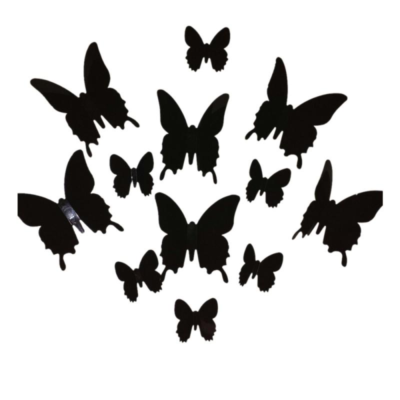 12 Stueck 3D Schmetterling Wand Aufkleber Schmetterlinge aerzte ...