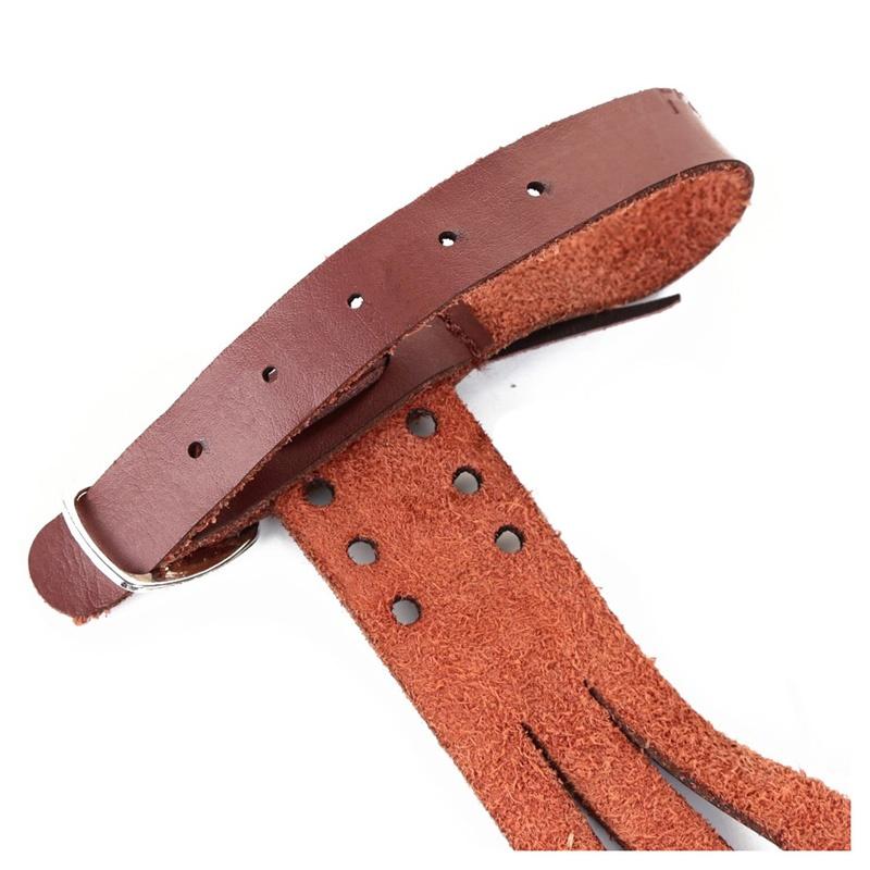 Fait-A-la-main-de-3-doigt-Gant-de-tir-A-l-039-arc-fleche-Gant-en-cuir-X9S4