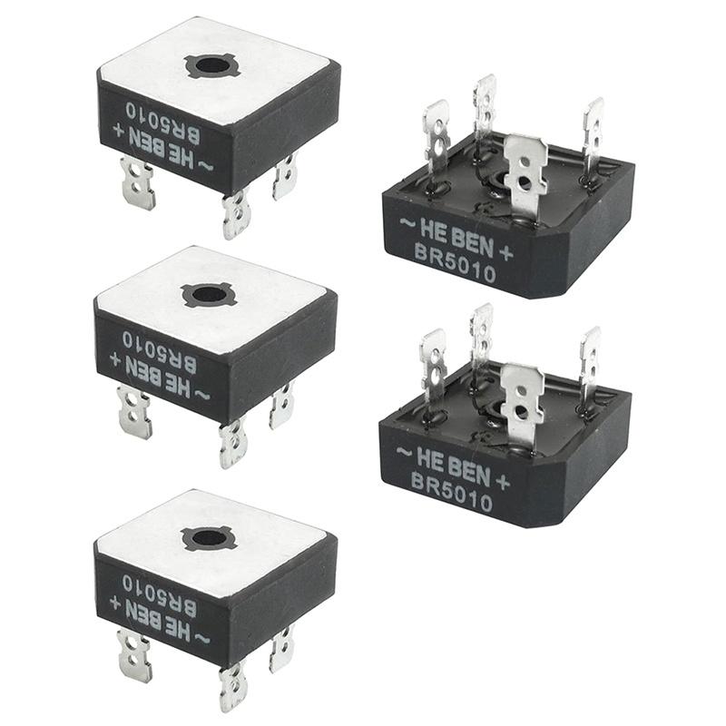 5-Pcs-BR5010-pont-de-redresseur-professionnel-en-metal-1000-V-50A-S6S3