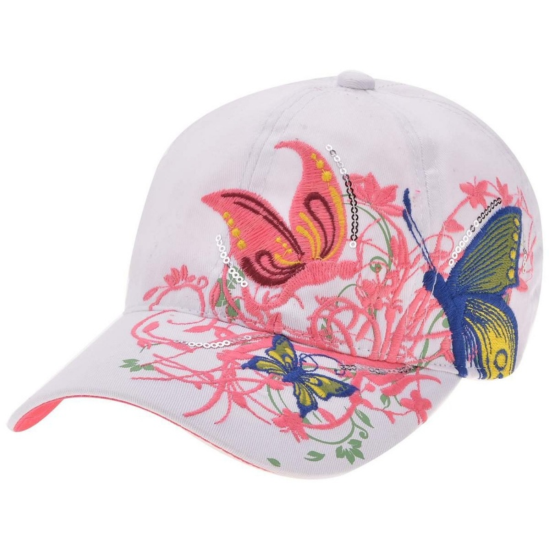Sombreros de deportes beisbol y golf de de senoras de color blanco K4B6