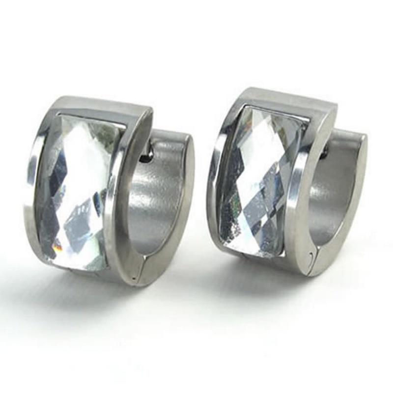 pendientes-de-joyeria-de-hombres-pendientes-de-aro-de-acero-inoxidable-E9M2 miniatura 6