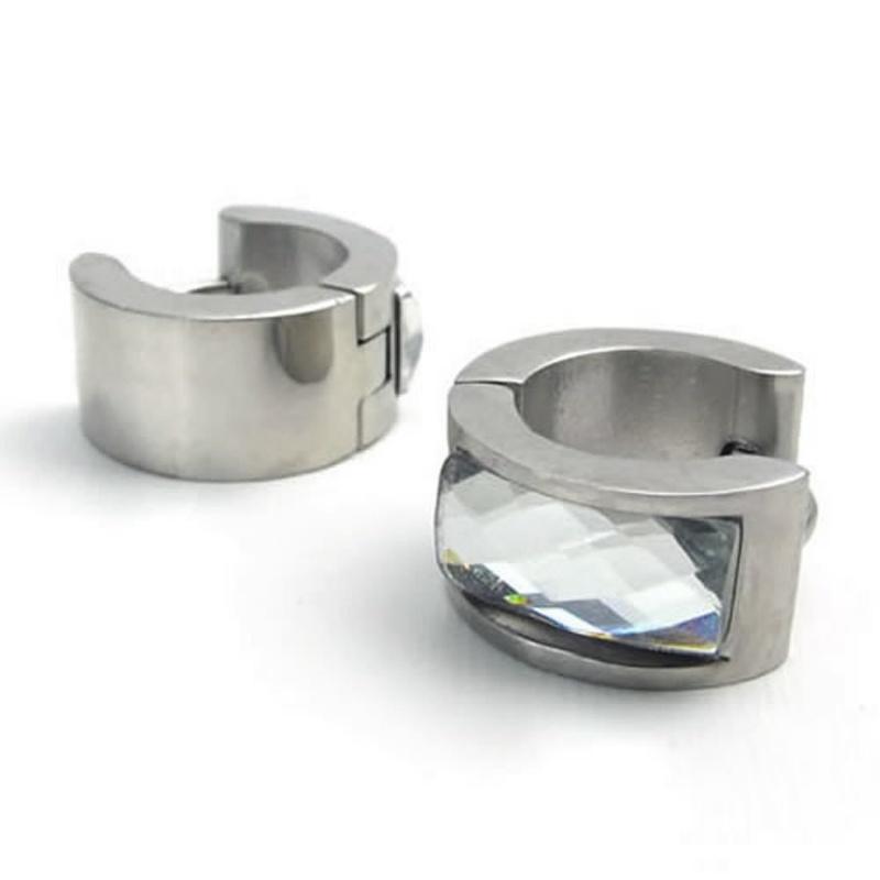 pendientes-de-joyeria-de-hombres-pendientes-de-aro-de-acero-inoxidable-E9M2 miniatura 7