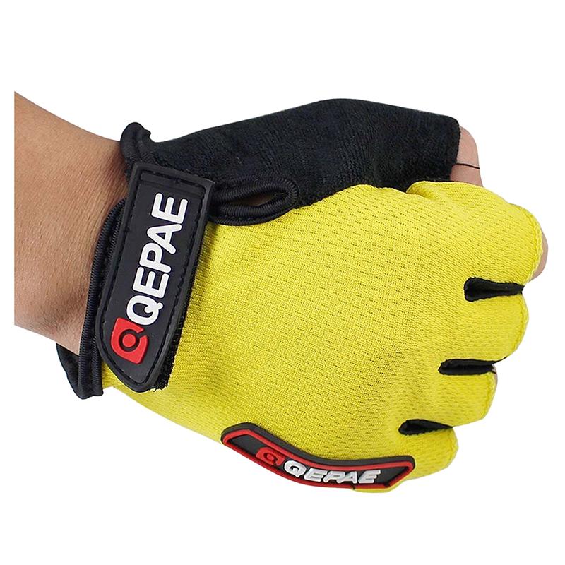 Qepae-NOUVEAU-Gants-en-silicone-a-demi-doigt-de-cyclisme-de-velo-K3I3 miniature 3