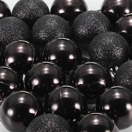 24Pcs-Chic-Natale-Palline-Albero-di-Natale-Glitter-semplice-ornamento-palla-decorati-S5F5 miniatura 3