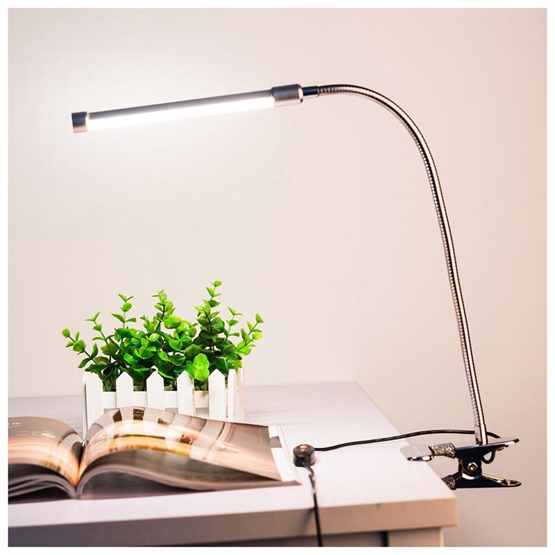 6W-18LEDs-3-stufige-dimmbare-LED-Schreibtischlampe-USB-einstellbare-Clip-o-P6N5 Indexbild 7