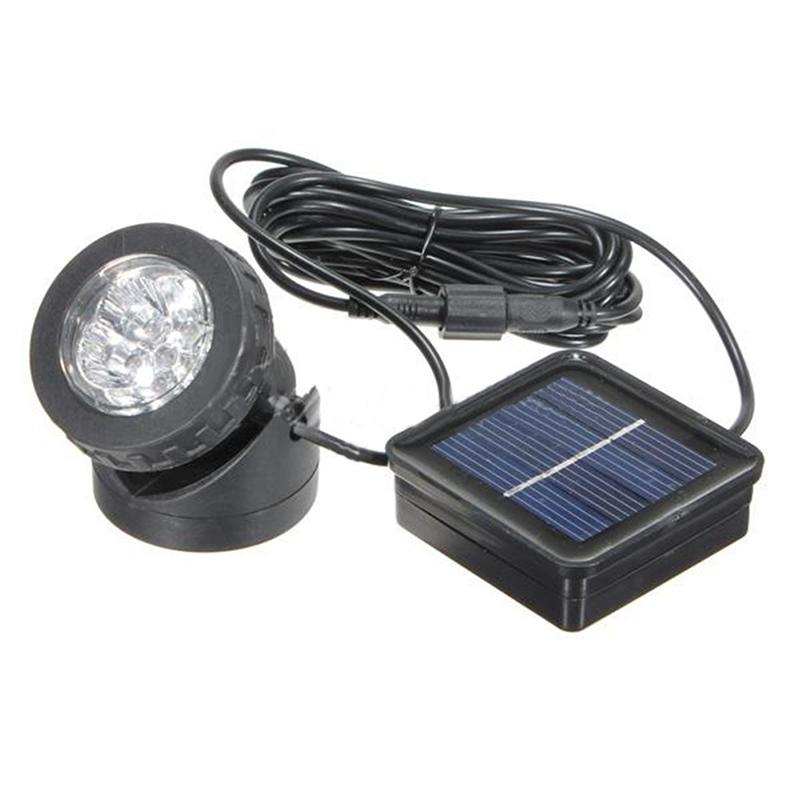 6 LEDs Solar LED-Strahler Licht-Lampe Aussenleuchte fuer Tauchen Led ...
