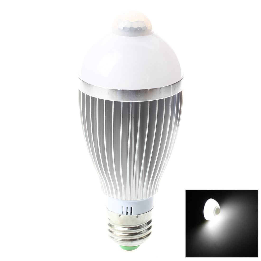 e27 ir bewegungsmelder a g6 led birne lampe 6w 600lm licht m9 ebay. Black Bedroom Furniture Sets. Home Design Ideas