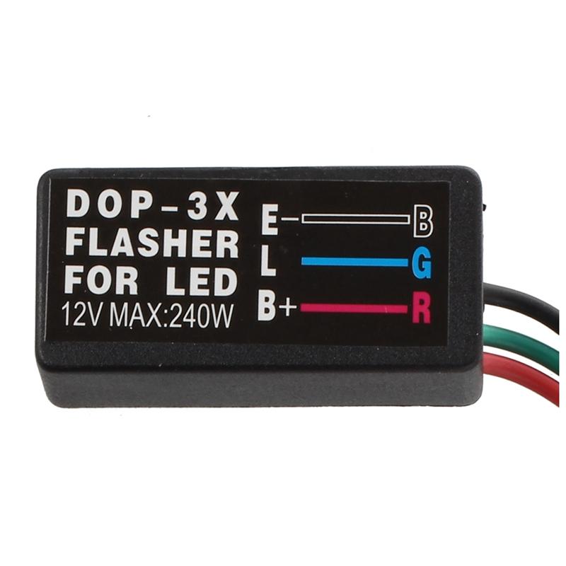 1X-LED-RELAIS-REPETITEUR-CLIGNOTANT-FLASHER-3PIN-BROCHE-POUR-VOITURE-MOTO-J3X-8P miniature 3