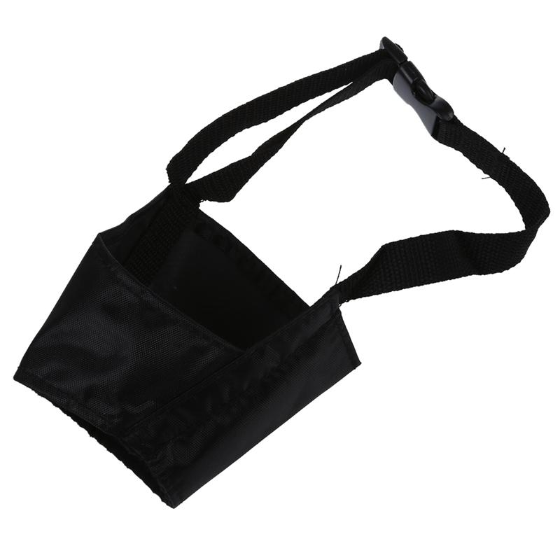2X-Bozal-Rejilla-Nylon-Regulable-Negro-para-Perro-Adiestramiento-15cm-TallaB3F6