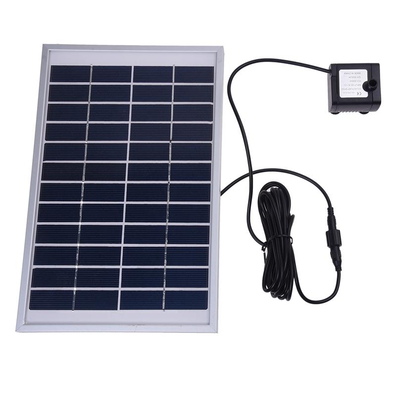 solarenergie wasserpumpe panel fuer brunnen teich 12v 500l h t4t1 ebay. Black Bedroom Furniture Sets. Home Design Ideas