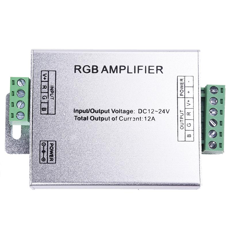 signal verstaerker amplifier repeater dc 12v fuer rgb led. Black Bedroom Furniture Sets. Home Design Ideas