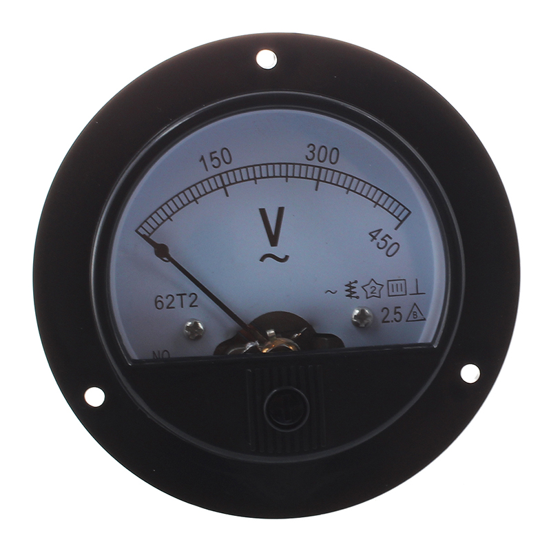 Round Ach 0-450v Voltage Volt Analog Panel Meter Voltmeter F7p5