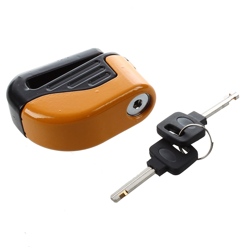 Blocked Disc Lock Alarm stainless steel universal motorcycle safety V2I9