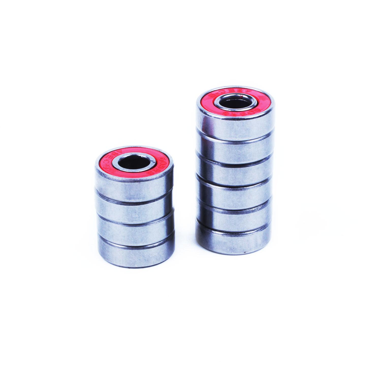 10-x-roja-cubierta-ABEC-9-608-Rodamientos-22-7-8mm-C5C7