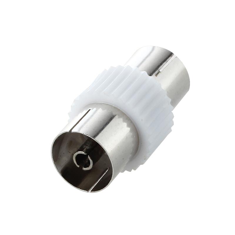 5-x-RF-anten-FM-TV-cable-coaxial-PAL-hembra-a-enchufe-adaptador-de-conector-i1Z3