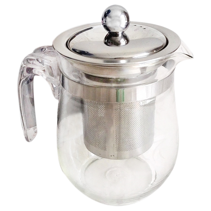 350ml heat resistant clear glass teapot stainless steel infuser flower pot w3x7. Black Bedroom Furniture Sets. Home Design Ideas
