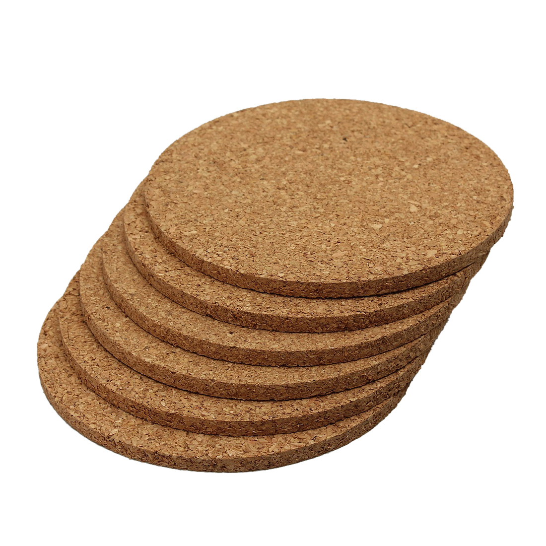 6pcs Plain Round Cork Coasters Coffee Drink Tea Cup Mat