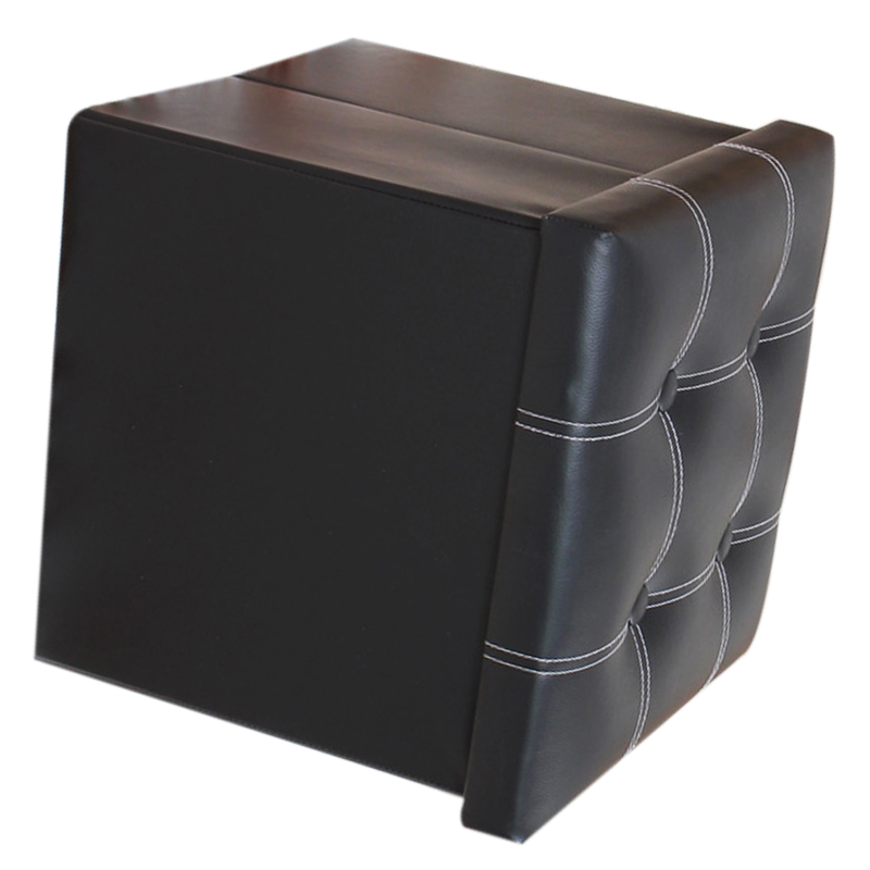 Single-Ottoman-PU-Leather-Stool-Folding-Seat-Chest-Foldable-Storage-Box-Foot-N3