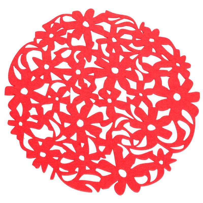 Round-Laser-Cut-Flower-Felt-Placemats-Kitchen-Dinner-Table-Cup-Mats-Cushion-A8E2 thumbnail 3