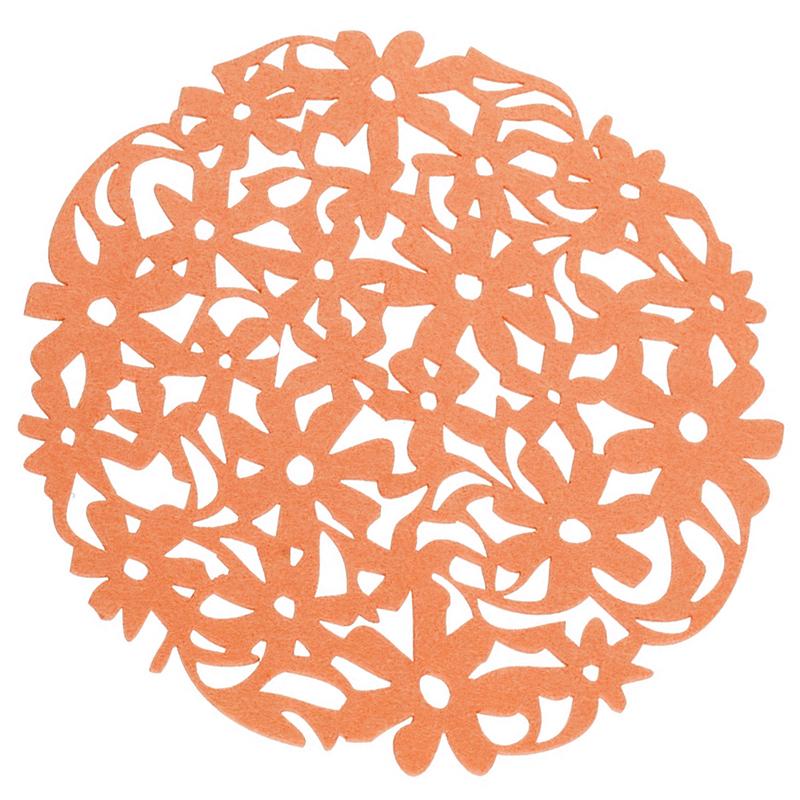 Round-Laser-Cut-Flower-Felt-Placemats-Kitchen-Dinner-Table-Cup-Mats-Cushion-A8E2 thumbnail 6