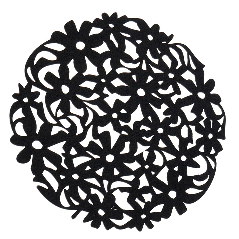 Round-Laser-Cut-Flower-Felt-Placemats-Kitchen-Dinner-Table-Cup-Mats-Cushion-A8E2 thumbnail 9