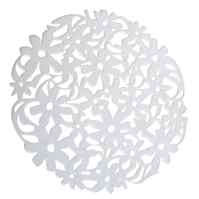 Round-Laser-Cut-Flower-Felt-Placemats-Kitchen-Dinner-Table-Cup-Mats-Cushion-A8E2 thumbnail 12