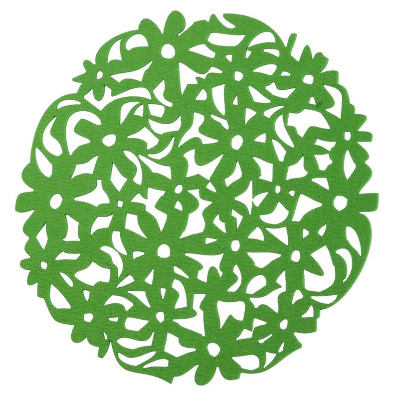 Round-Laser-Cut-Flower-Felt-Placemats-Kitchen-Dinner-Table-Cup-Mats-Cushion-A8E2 thumbnail 15