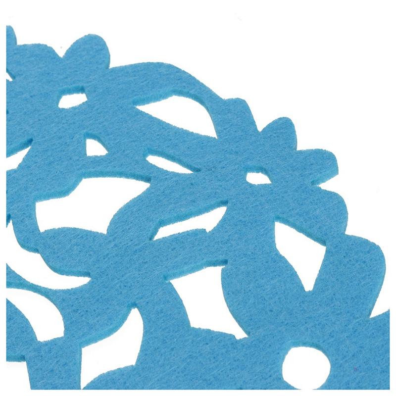 Round-Laser-Cut-Flower-Felt-Placemats-Kitchen-Dinner-Table-Cup-Mats-Cushion-A8E2 thumbnail 18